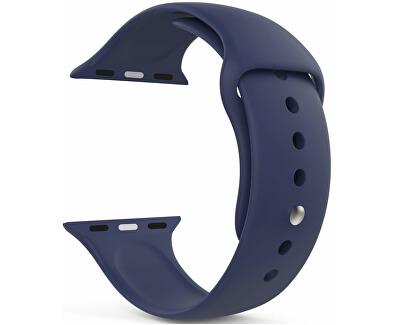 Silikonový řemínek pro Apple Watch - Tmavě modrý 42/44 mm - M/L