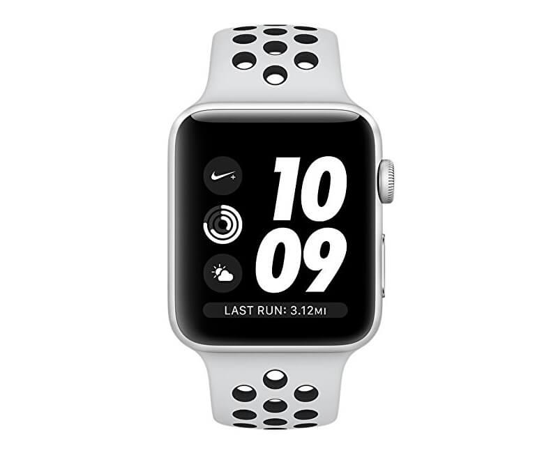 e69b8ab03 Apple Watch Nike+ 42 mm stříbrný hliník s platinovým/černým Nike sportovním  řemínkem
