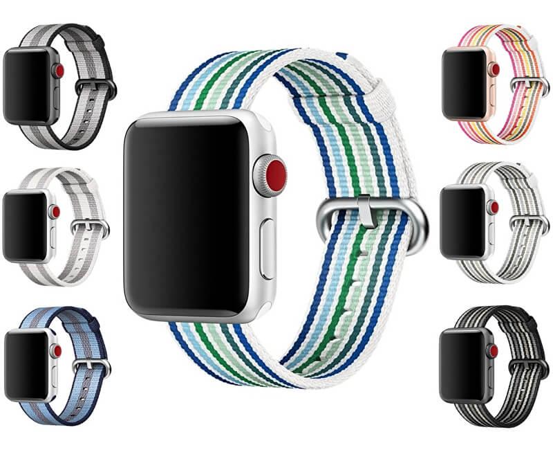 Apple Nylonový řemínek proužkovaný 38 mm