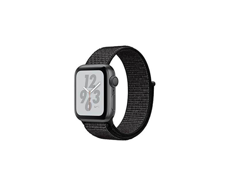 Apple Watch Nike+ 40mm vesmírně šedý hliník s černým provlékacím sportovním  řemínkem Nike Novinka 59ce02bbb6