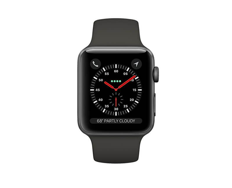Apple Watch Series 3 38mm vesmírně šedý hliník s šedým sportovním řemínkem  Výprodej cba9765e75