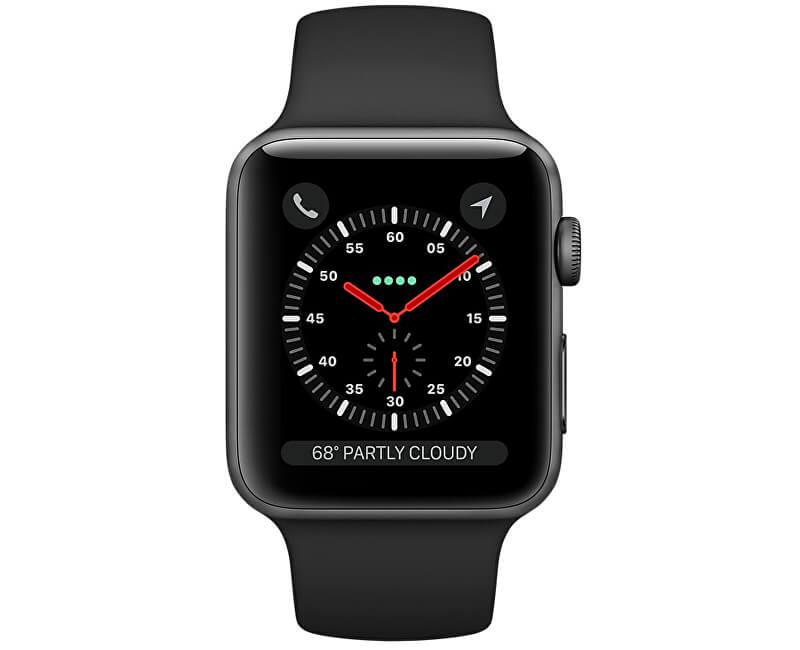 Apple Watch Series 3 42 mm vesmírně šedý hliník s černým sportovním řemínkem  ... 0793edfa77