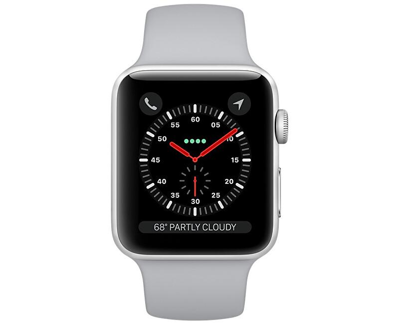 26e3d380411 Apple Watch Series 3 42mm stříbrný hliník s mlhově šedým sportovním  řemínkem ...