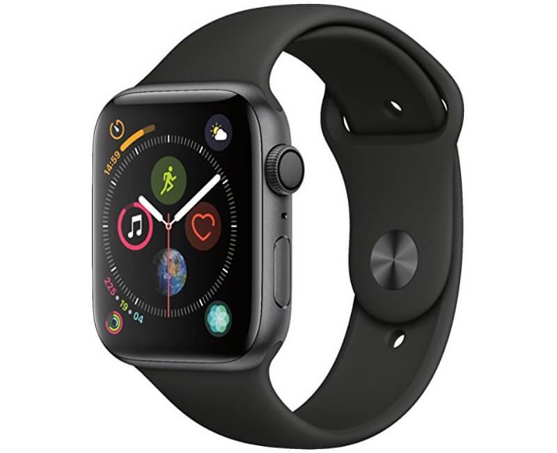Apple Watch Series 4 44mm vesmírně šedý hliník s černým sportovním řemínkem  Novinka 507bd18740