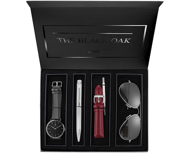Black Oak pánská dárková sada s hodinkami a dalšími nezbytnostmi pro muže    kluky (výběr z mnoha barevných variant) 9d35efb031