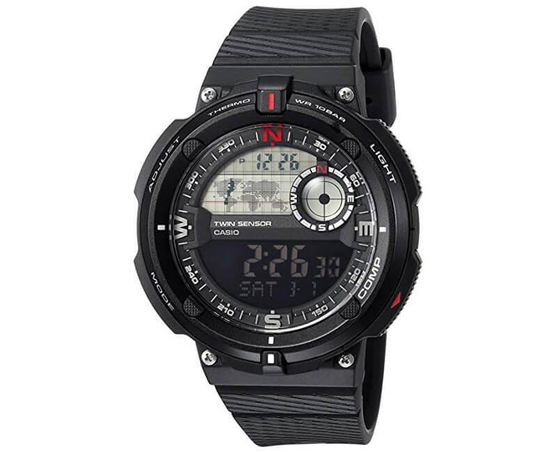 Casio SGW 600H-1B s teploměrem, kompasem a světovým časem