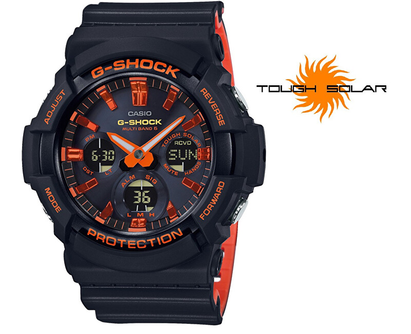 Casio The G/G-SHOCK Bright Red GAW-100BR-1AER Rádiově řízené (445)
