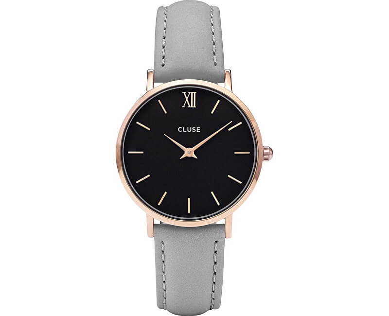 Cluse Minuit Rose Gold Black/Grey CL30018