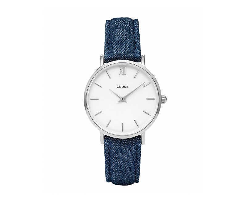 Cluse MinuitSilver White/Blue Denim CL30030