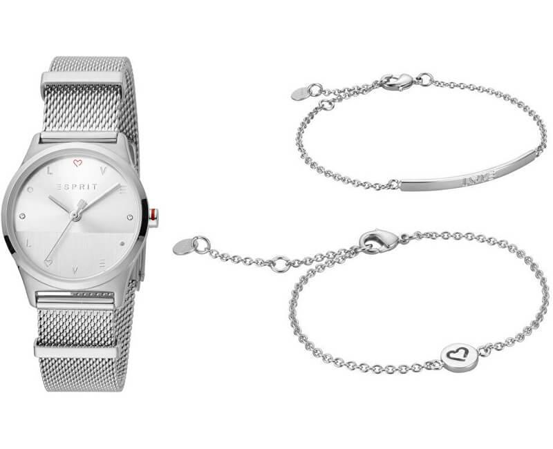 Esprit Dárkový set hodinek se 2 náramky Heart SET ES1L092M0045