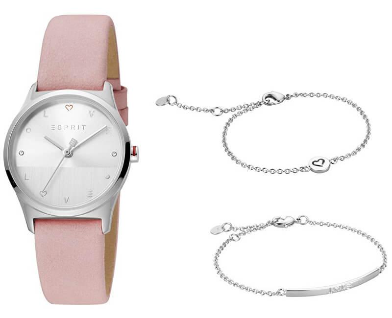 Esprit Dárkový set hodinek se 2 náramky Heart SET ES1L092L0035