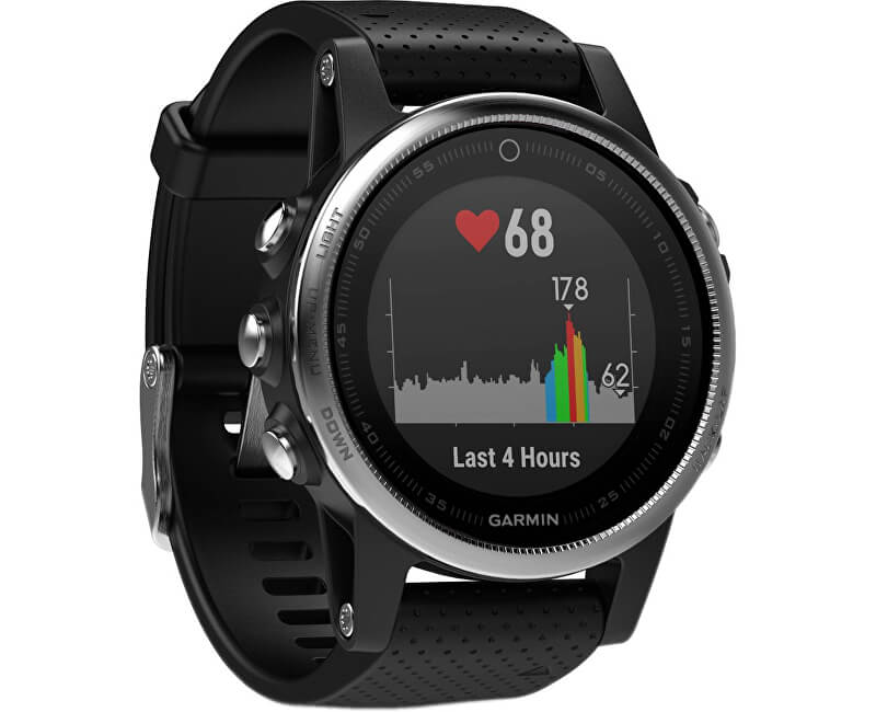 Garmin Fenix 5S Silver Optic Black band