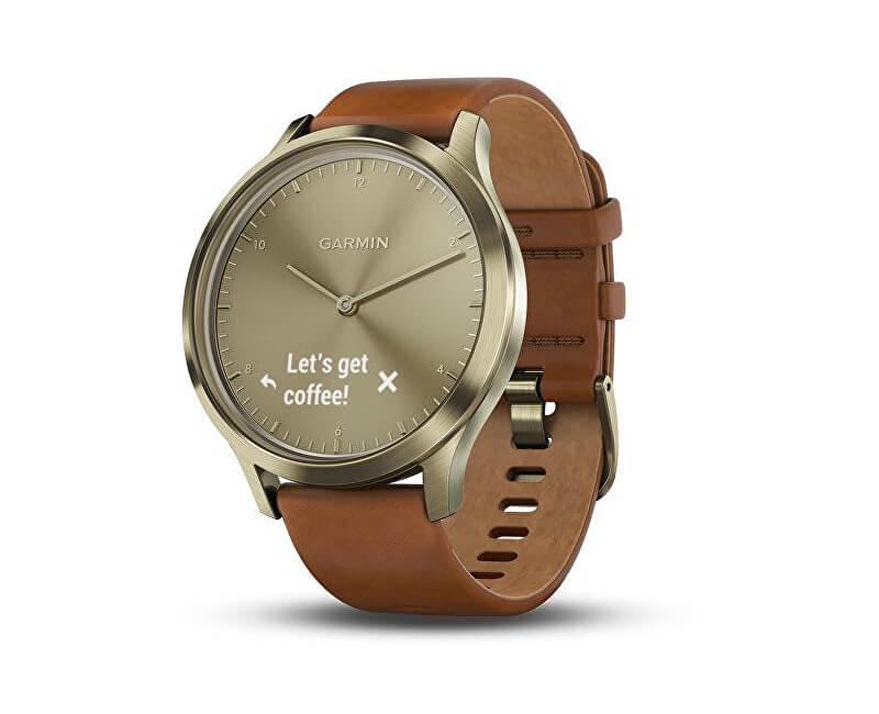 155cd98b2e Garmin Vívomove Optic Premium chytré hodinky (vel. S M) zlaté ...
