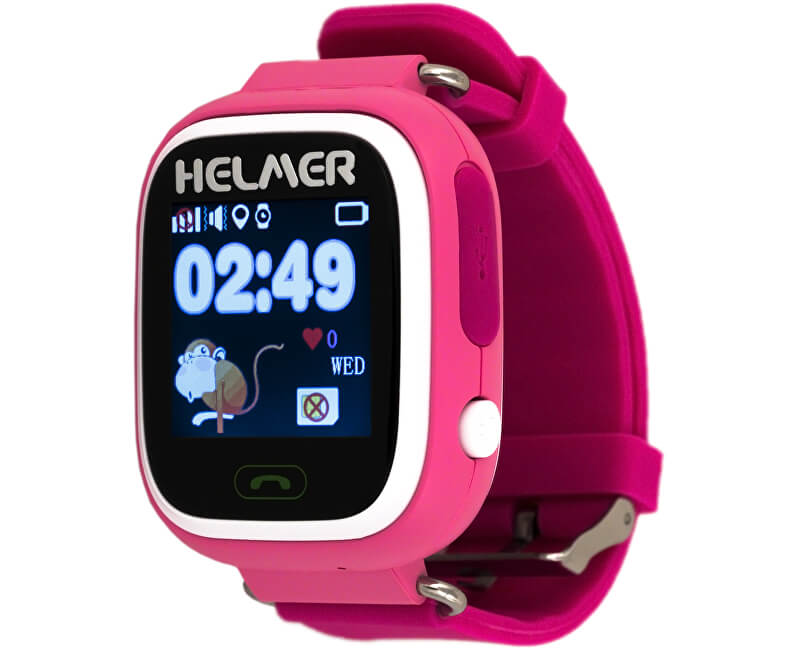 Helmer Chytré dotykové hodinky s GPS lokátorem LK 703 růžové