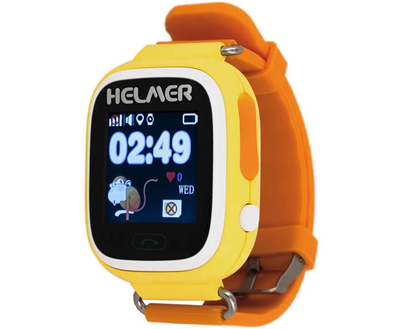 83fb0258e Helmer Chytré dotykové hodinky s GPS lokátorem a SIM kartou GoMobil s  kreditem 50 Kč LK
