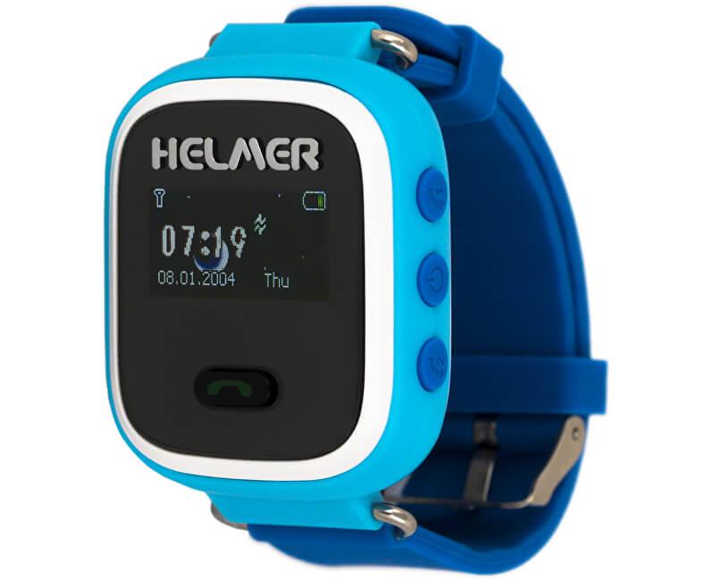 099b1d7c9086 Helmer Chytré hodinky s GPS lokátorem LK 702 modré + SIM karta GoMobil s  kreditem 50