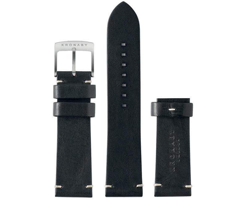 Kronaby Řemínek černý 22 mm A1000-0181