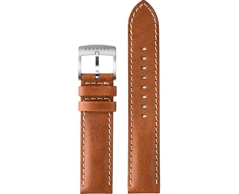 Kronaby Řemínek koňakový 20 mm A1000-3275