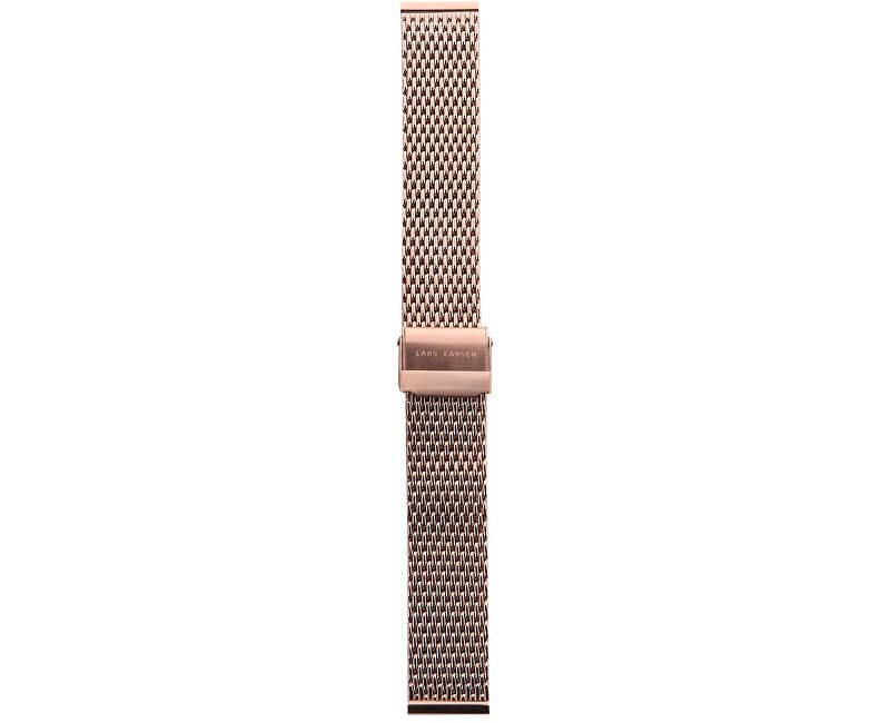 Lars Larsen Milano trage curea / aur roz 18 mm MR18