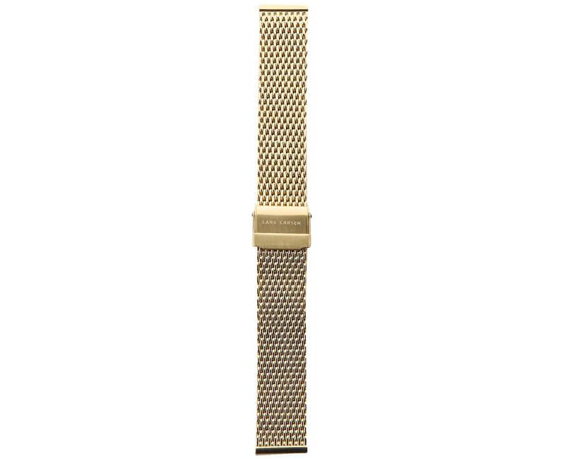 Lars Larsen Řemínek milánský tah/zlatý 18 mm MG18