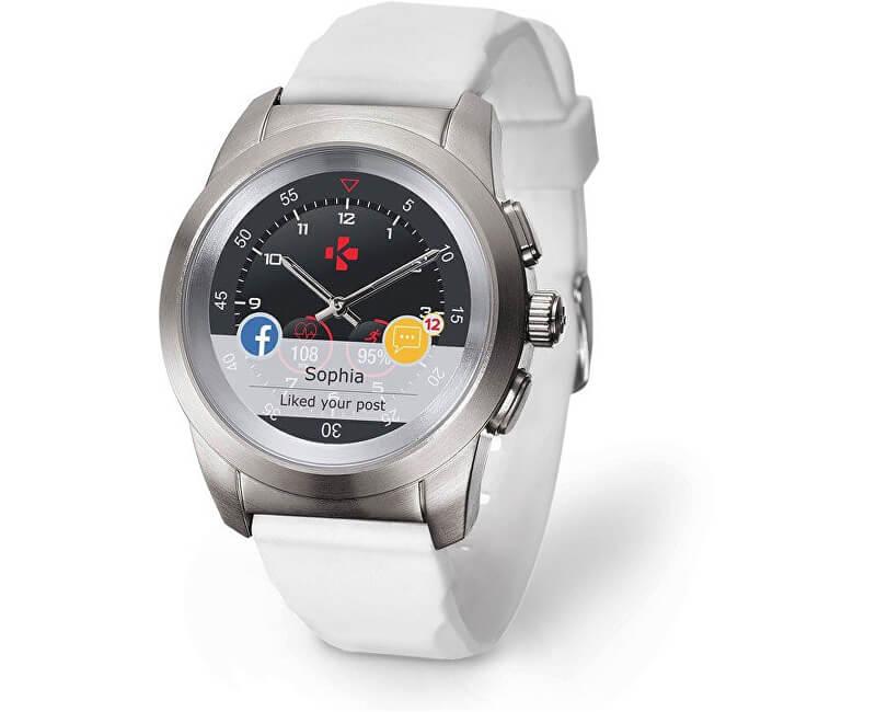 dbe1c04c1f05 MyKronoz Hybridní hodinky ZeTime Original Silver White - 44mm ...