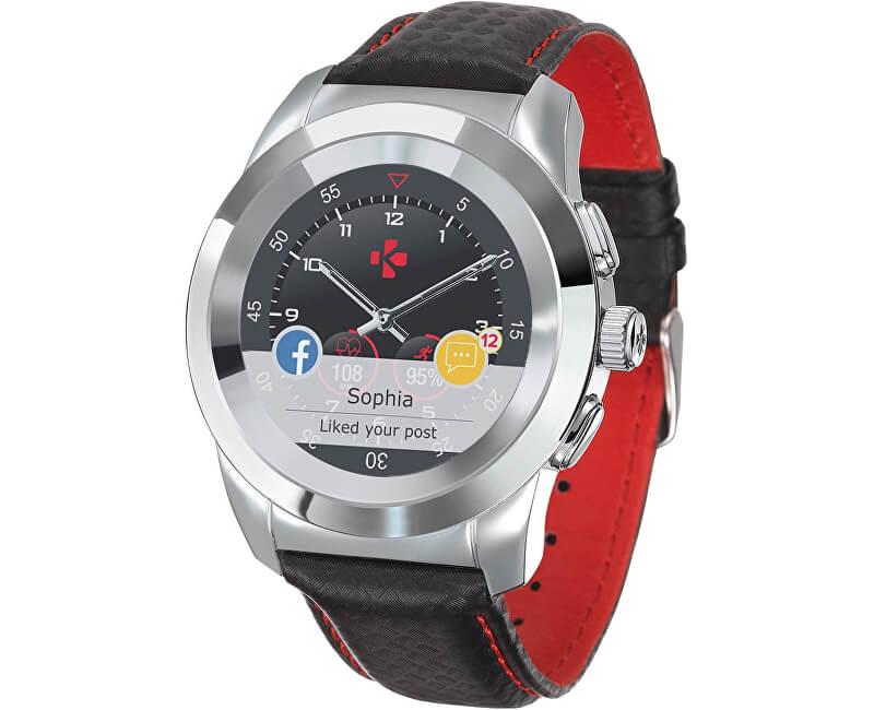 5399af1dc730 MyKronoz Hybridní hodinky ZeTime Premium Silver Black - 39 mm ...