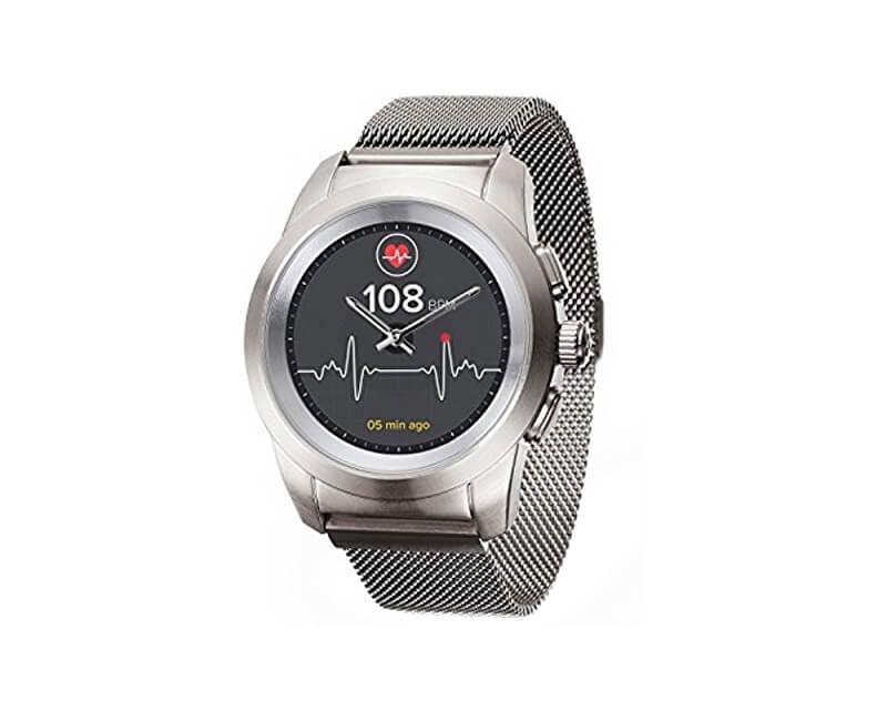 MyKronoz Hybridní hodinky ZeTime Elite Brushed Silver Milan - 44 mm ... 6e63a68507a