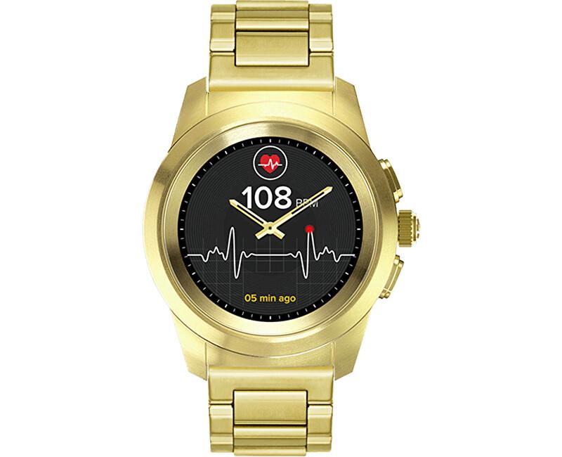 595a61ac09f5 MyKronoz Hybridní hodinky ZeTime Elite Yellow Gold Metal - 44 mm ...