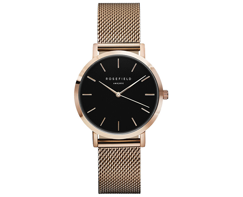 Rosefield The Tribeca Black Rosegold