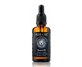 Pečující olej na vousy s arganovým olejem Hřebíček a šalvěj (Beard Oil) 30 ml