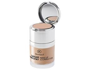 Dlhotrvajúci make-up s výťažkami z kaviáru a zdokonaľovací korektor (Caviar Long Stay Make-Up & Corrector) 30 ml