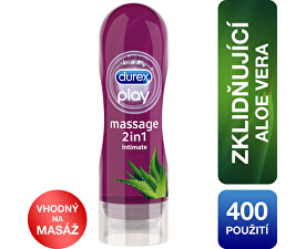 Gel lubrifiant Play Gel de masaj 2in1 Aloe Vera 200 ml - 400 de utilizări