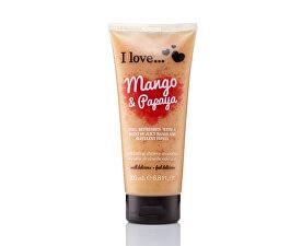 Přírodní sprchový peeling s vůní manga a papáji (Mango & Papaya Exfoliating Shower Smoothie) 200 ml