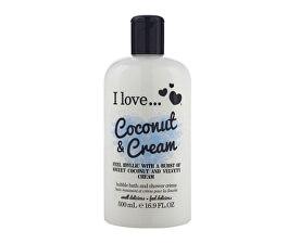 Kúpeľový a sprchovací krém s vôňou kokosu a sladkého krému (Coconut & Cream Bubble Bath And Shower Creme) 500 ml