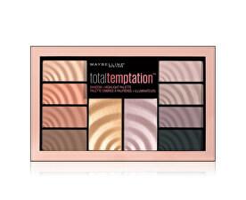 Paletka očných tieňov a rozjasňovač Total Temptation 12 g