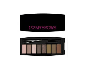 Set pentru sprâncene  My Brows  Ultimate I LOVE MAKEUP (Brows Shadow Palette) 7,6 g