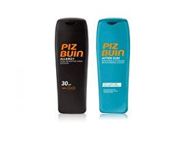 Dárková sada sluneční péče: Mléko na opalování SPF 30 Allergy 200 ml + Mléko po opalování After Sun 200 ml