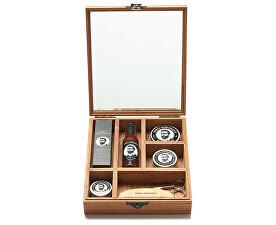 Set cadou de lux de îngrijire barbă și mustață într-o cutie de lemn