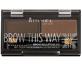 Paletka pro dokonalé obočí Brow This Way ( Powder Kit) 2,4 g