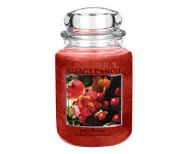 Dekoratívne vonná sviečka v skle Červené kvety (Berry Blossom) 645 g