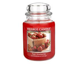 Vonná sviečka v skle Čerstvé jahody (Fresh Strawberries) 645 g