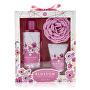 Set cadou de îngrijire pentru corp cu burete Blossom Hibiscus & Coconut