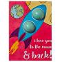 Šumivé přání s balistikem do koupele I Love You To the Moon & Back (Blaster Card) 30 g