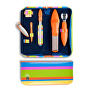 Luxusní 6 dílná pedikúra Pop Art 6 - oranžová - SLEVA - poškozená krabička