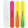 Neonové pilníky na nehty s pouzdrem (Neon Nail Files) 3 ks