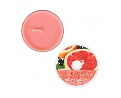Lumânare parfumată in bol Grapefruit proaspăt si coacăze negre 38 g