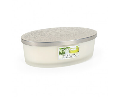 Vonná svíčka elipsa Bílý čaj & eukalyptus 420 g