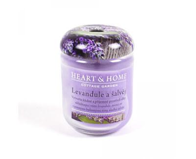 Lumânare parfumată medie Lavandă și salvie 115 g