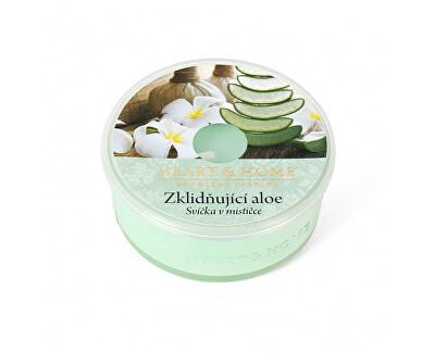 Lumânare parfumată in bol Aloe calmanta 38 g