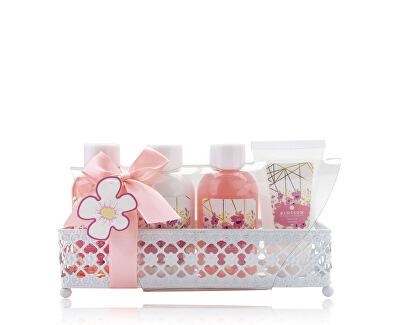 Set cadou într-un coș de metal Blossom Hibiscus & Coconut